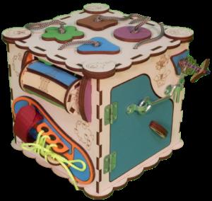 Куб - бизибoрд без элeктрики 16x16x16 см.