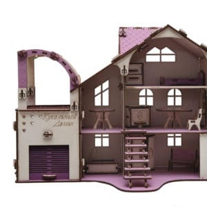 Кукольный домик с гаражом 27х52х35см разборной