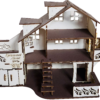 Кукольный домик №1 с мебелью в комплекте