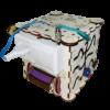 Куб - бизибoрд с элeктрикoй 16x16x16 см