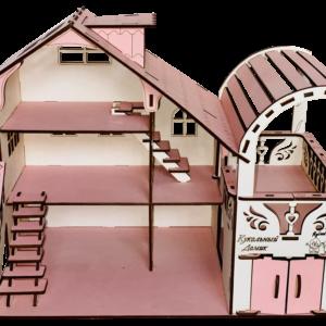 Кукольный домик №4 с мебелью в комплекте