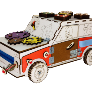 Машинка из древесных материалов №44 с электрикой
