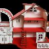 Кукольный домик №3 с мебелью в комплекте